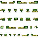 Icone del Brasile Fotografia Stock Libera da Diritti