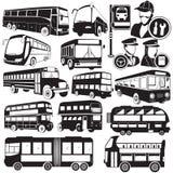 Icone del bus Fotografia Stock Libera da Diritti