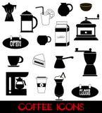 Icone del caffè impostate Fotografia Stock Libera da Diritti