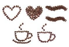 Icone del caffè impostate Fotografie Stock Libere da Diritti