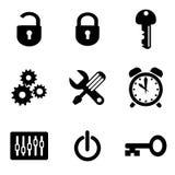 Icone del calcolatore royalty illustrazione gratis