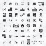 Icone del calcolatore impostate Illustrazione illustrazione di stock