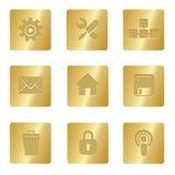 Icone del calcolatore | Quadrato Bronze 02 Fotografie Stock Libere da Diritti