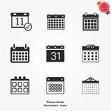 Icone del calendario Immagine Stock Libera da Diritti