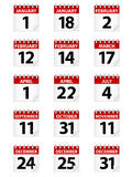 Icone del calendario Immagine Stock