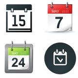 Icone del calendario Fotografia Stock Libera da Diritti