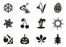 Icone del calendario illustrazione di stock