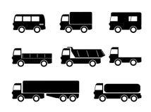 Icone del camion di trasporto Immagini Stock Libere da Diritti