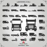 Icone del camion messe Immagini Stock