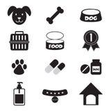 Icone del cane impostate Fotografie Stock Libere da Diritti