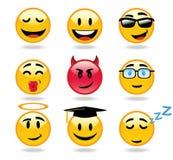 Icone del carattere degli emoticon Fotografia Stock
