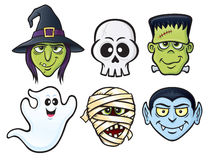 Icone del carattere di Halloween Immagini Stock