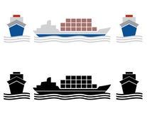 Icone del carico della nave Fotografia Stock Libera da Diritti