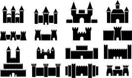 Icone del castello Fotografia Stock Libera da Diritti