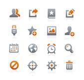 Icone 2 del cellulare e di web -- Serie della grafite Fotografia Stock