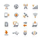 Icone 6 del cellulare e di web -- Serie della grafite Immagine Stock