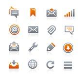 Icone 9 del cellulare e di web -- Serie della grafite Fotografia Stock Libera da Diritti