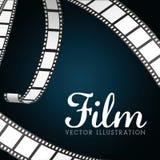 Icone del cinema e del film Immagini Stock