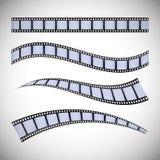 Icone del cinema e del film Fotografia Stock