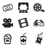 Icone del cinematografo Immagini Stock