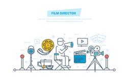 Icone del cinematografo Il regista partecipa in corso di contaminazione, gestione royalty illustrazione gratis