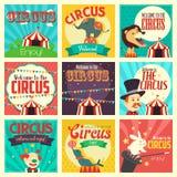 Icone del circo Fotografia Stock
