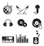 Icone del club o della discoteca Immagine Stock