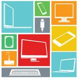Icone del computer Fotografia Stock Libera da Diritti