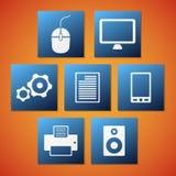 Icone del computer di vettore Fotografie Stock