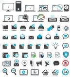 Icone del computer impostate Fotografia Stock