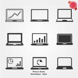 Icone del computer portatile Immagine Stock Libera da Diritti
