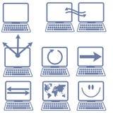 Icone del computer portatile illustrazione vettoriale