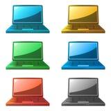 Icone del computer portatile Fotografia Stock Libera da Diritti