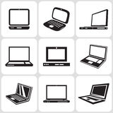 Icone del computer portatile messe Immagine Stock