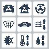 Icone del condizionamento d'aria di vettore Immagine Stock Libera da Diritti