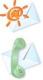 Icone del contatto illustrazione vettoriale