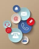 Icone del contatto Immagine Stock