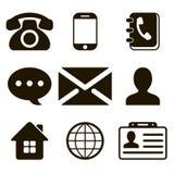 Icone del contatto messe illustrazione di stock