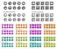 Icone del contatto - ombra lunga Immagine Stock Libera da Diritti