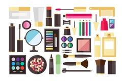 Icone del cosmetico di bellezza Fotografia Stock