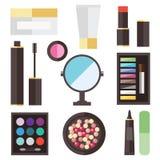 Icone del cosmetico di bellezza illustrazione vettoriale