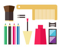 Icone del cosmetico di bellezza illustrazione di stock