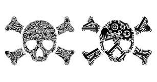 Icone del cranio di morte del mosaico degli strumenti di riparazione royalty illustrazione gratis