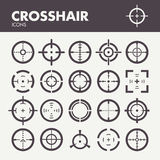 Icone del Crosshair messe Immagine Stock