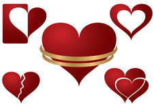 Icone del cuore Immagini Stock