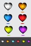 Icone del cuore. Immagini Stock Libere da Diritti