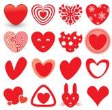 Icone del cuore impostate Fotografia Stock Libera da Diritti