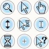 Icone del cursore del calcolatore Immagine Stock Libera da Diritti