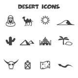 Icone del deserto Immagini Stock Libere da Diritti