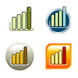 Icone del diagramma Immagini Stock